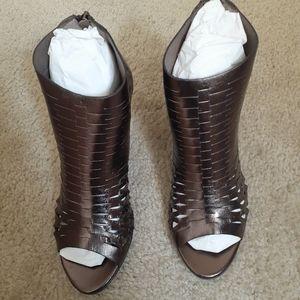 L'idea Bronze Ankle Booties